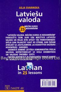 Latvian in 25 Lessons - Back Cover